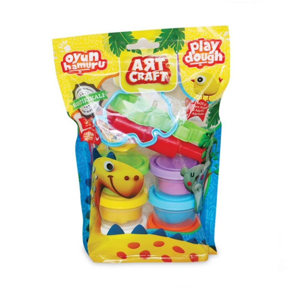 Dede Art Craft 6'lı Poly Bag Oyun Hamuru Seti